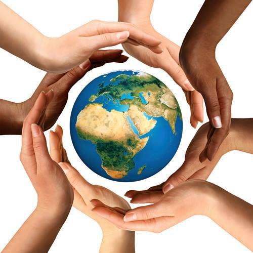 holo earth hands