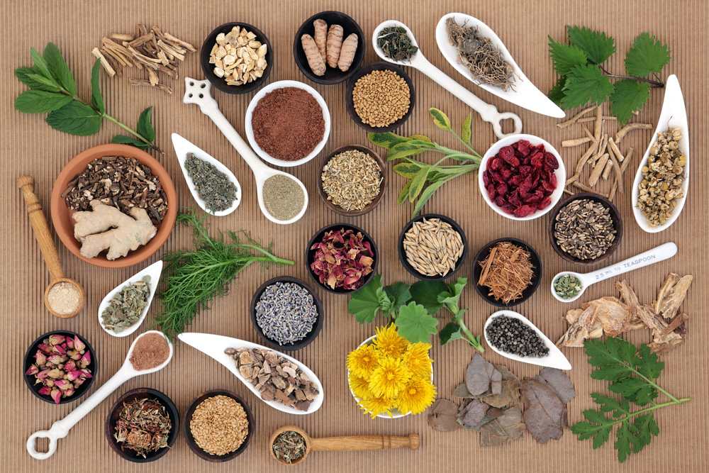 Ayurvedic medicine, derived from your dosha, involves using herbs as medicine